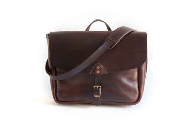 Leather Messenger Bag – Handmade Leather Post Bag – Made in Asheville, NC